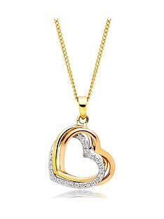beaverbrooks-9ct-tri-tone-gold-cubic-zirconia-heart-pendant