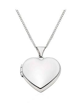 Beaverbrooks Beaverbrooks 9Ct White Gold Heart Locket Pendant Picture