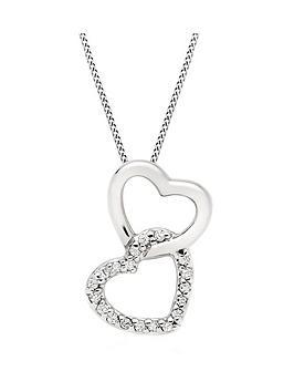 beaverbrooks-9ct-white-gold-diamond-double-heart-pendant