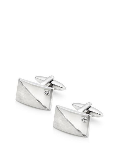 beaverbrooks-stainless-steel-cubic-zirconia-cufflinks