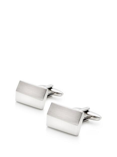 beaverbrooks-mens-brushed-stainless-steel-cufflinks