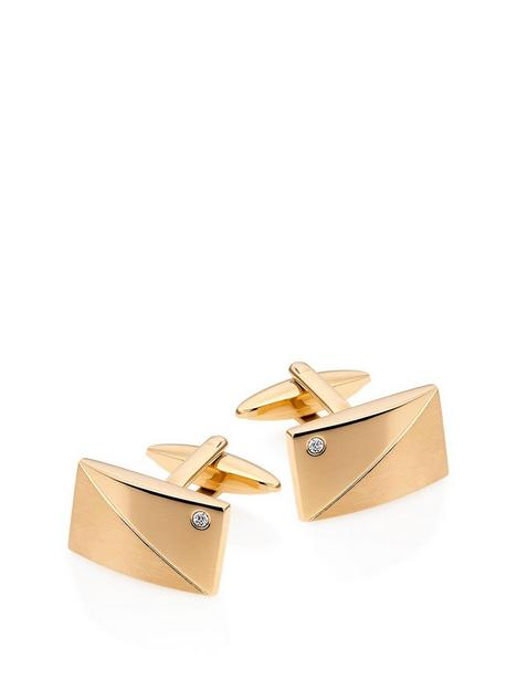 beaverbrooks-silver-18ct-gold-plated-crystal-mens-cufflinks