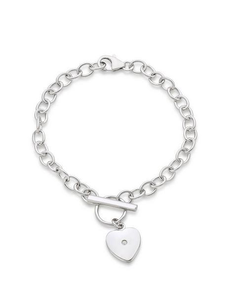 beaverbrooks-mini-b-childrens-silver-diamond-heart-bracelet