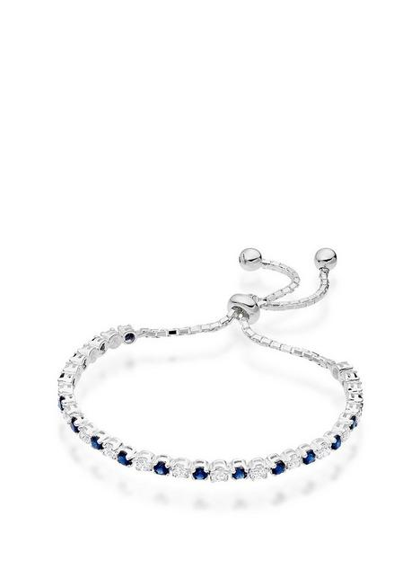 beaverbrooks-silver-synthetic-sapphire-and-cubic-zirconia-slider-bracelet
