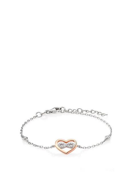 beaverbrooks-silver-rose-gold-plated-cubic-zirconia-infinity-heart-bracelet