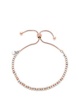 Beaverbrooks Beaverbrooks Silver Rose Gold Plated Bracelet Picture
