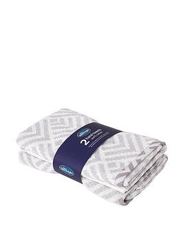 Silentnight Silentnight Silentnight Geo 2 Pack Hand Towels Picture