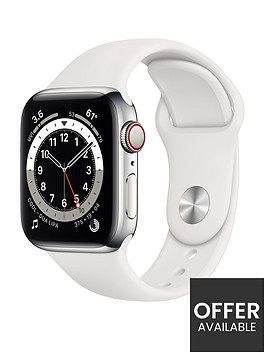 apple-watch-series-6-gps-cellular-40mm-silver-stainless-steel-case-with-white-sport-band
