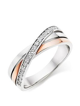 beaverbrooks-silver-rose-gold-plated-cubic-zirconia-ring