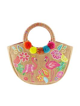 Monsoon Monsoon Girls Tropical Paradise Hoop Handle Bag - Multi Picture
