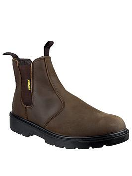 Very Amblers Safety 128 Brown Greasy Dealer Boots Picture