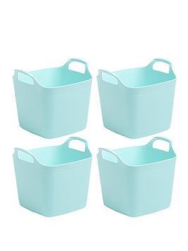 Wham Wham Set Of 4 Flexi Storage Tubs - Blue Picture