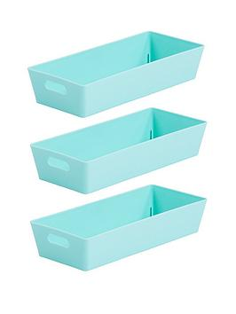 Wham Wham Set Of 3 Studio Baskets - Duck Egg Blue Picture