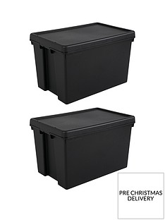wham-set-of-2-heavy-duty-recycled-plastic-storage-boxes-ndash-62-litres-each
