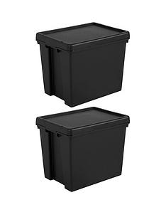 wham-set-of-2-heavy-duty-recycled-plastic-storage-boxes-ndash-24-litres-each