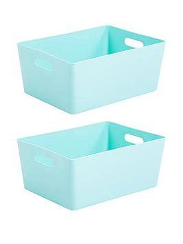 Wham Wham Set Of 2 Extra Large Studio Baskets - Duck Egg Blue Picture
