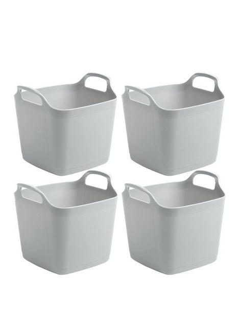 wham-set-of-4-flexi-storage-tubs--nbspgrey