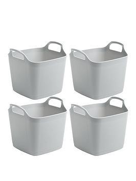 Wham Wham Set Of 4 Flexi Storage Tubs - Grey Picture