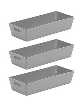 Wham Wham Set Of Three 1-Litre Studio Baskets - Grey Picture
