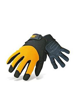CAT Cat 12215 Padded Palm Gloves - Black/Yellow Picture