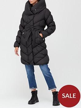 v-by-very-shawl-collar-chevron-padded-coat-black