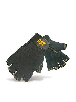 CAT Cat 12202 Reversed Half Finger Gloves - Black Picture