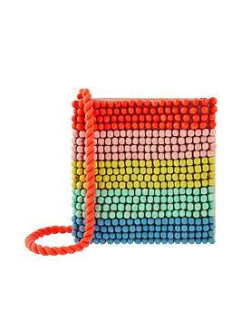 Accessorize Accessorize Girls Rainbow Beaded Across Body Bag - Multi Picture