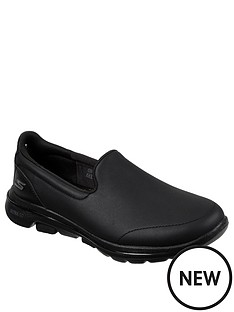 skechers-go-walk-5-polished-slip-on-pumps-black