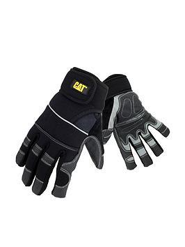 CAT Cat 12217 Wrap Around Adjustable Gloves - Black Picture