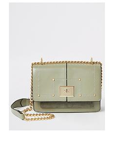 river-island-fold-over-cross-body-satchel-bag-light-green