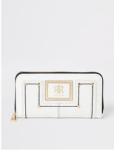 river-island-white-enamel-branding-zip-around-purse-white