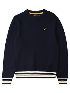 lyle-scott-boys-multi-rib-jumper-navy