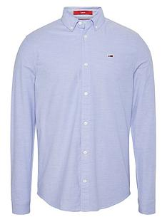 tommy-jeans-tjm-slim-stretch-fit-oxford-shirt-perfume-blue