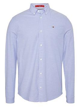 tommy-jeans-tjm-slim-stretch-fit-oxford-shirt-perfume-blue