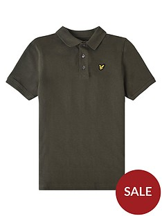 lyle-scott-boys-classic-short-sleeve-polo-khaki