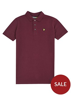 lyle-scott-boys-classic-short-sleeve-polo-wine