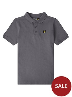 lyle-scott-boys-classic-short-sleeve-polo-dark-grey