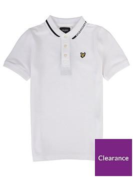 lyle-scott-boys-short-sleeve-branded-collar-short-sleevenbsppolo-shirt-white
