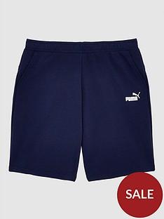 puma-plus-size-essentials-shorts-navy