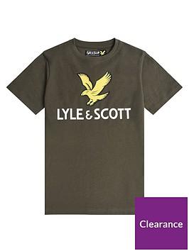 lyle-scott-boys-short-sleeve-eagle-logo-t-shirt-khaki