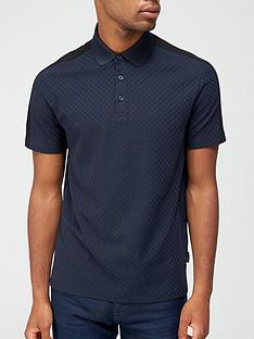 armani-exchange-textured-polo-shirt-navy