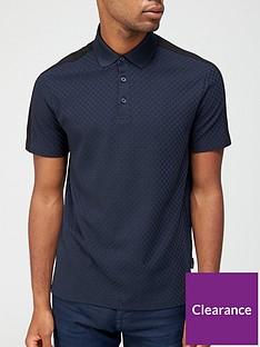 armani-exchange-textured-polo-shirt-navy