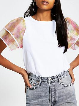 river-island-floral-organza-sleeve-top-white