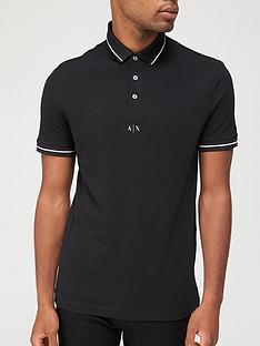 armani-exchange-centre-logo-polo-shirt-black