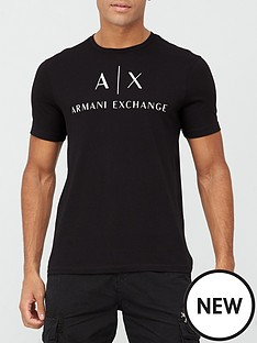 armani-exchange-logo-print-t-shirt-black