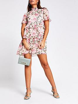 river-island-floral-lurex-detail-mini-smock-dress-pink