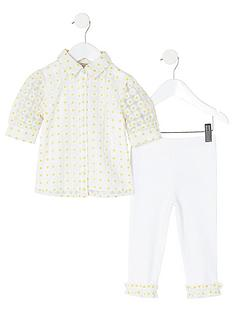 river-island-mini-girls-daisy-shirt-and-legging-setnbsp-nbspwhite