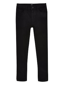 River Island River Island Boys Ollie Spray On Jeans - Black Picture