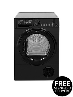 hotpoint-tcfs83bgk-8kg-load-condenser-tumble-dryer-black