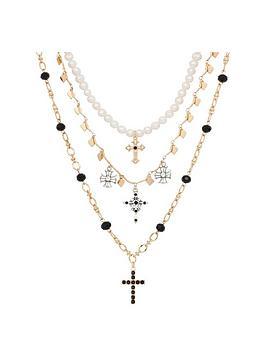 bibi-layered-cross-charm-necklaces